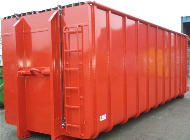 afzetcontainer met klapnetten 40m3